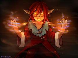 co: Flame trick by Momo-Deary