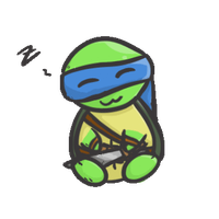 Leo TMNT (animated) by NyxTheFlyingKatFish