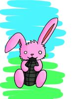 Bunny With A Grenade by jess432