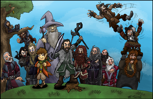13 Dwarves, 1 Wizard, and a Burglar by Ziggyfin