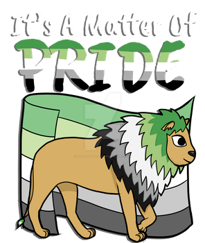 Aromantic Lion- With Text by marzipan-pond