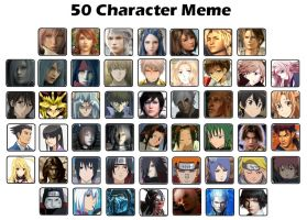 Favourite 50 Character Meme by Mizu1993