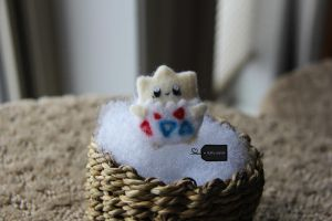Needle felted togepi (for sale) by FluffyParcel