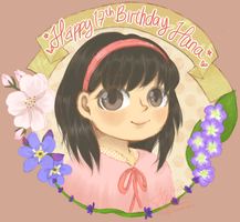 Hana-chan 17th Birthday Gift by aquaticsky
