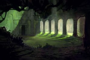 The old Temple by Nele-Diel