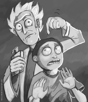 Rick and Morty by TrollkaRuby