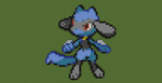 [PIXELART#04]Riolu(Pokemon Black and White/2) by GamerRukario