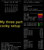 multi-conky setup v2 by anonymous-bot