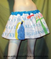 Big Bird and Cookie Monster Skirt by RedheadThePirate
