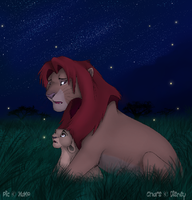 -+-Simba And Kiara -+- by Nizira-Hathor