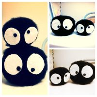 Soot Sprite Plushies! by TinySweetandSpicy