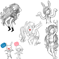 Adventure Time - Sketch Doodles by 27Leslie