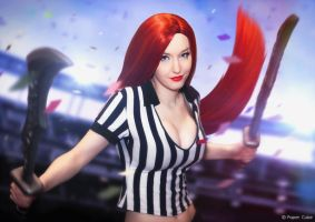 Red Card Katarina - League of Legends by Paper-Cube