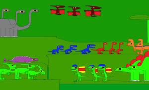 Paradise of Dinosaurs Springtime in the Jungle 2 by Gojirafan1994