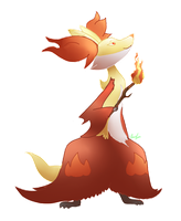 30. Delphox by Leafrabbit