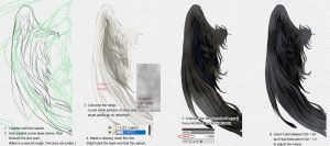 wings colouring tutorial by Chenj27