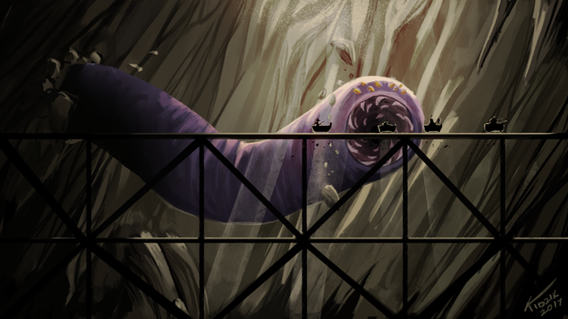 Purple Worm - The Adventure Zone - Concept Art by LadySweetSour