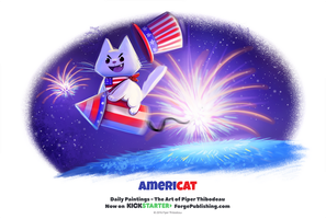 Daily 1322. Americat! by Cryptid-Creations