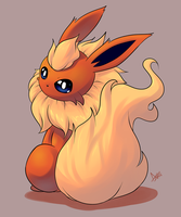 Flareon by AzureBladeXIII