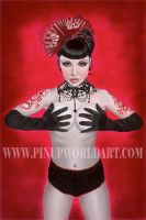 Crimson Dragon by Pinup Nicole by PinUp-World-Art
