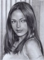 Kristin Kreuk Pencil drawing by Abremson