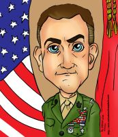 Camp Lejeune Base Commander Caricature by raccoon-eyes