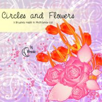 Circles and Flowers Brushes by Coby17