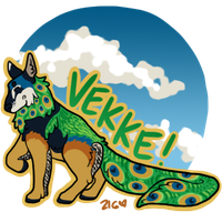 Peacock Dog - Art Fight 2012 by zigan-with-felines