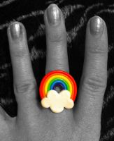 Rainbow Cloud Ring by KilllerCupcake