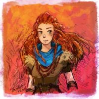 Aloy Horizon Zero Dawn by tambri-art