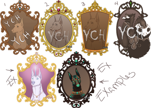 YCH - Frames - Open for 3 each by Grifforik
