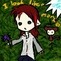 I look like a monkie don't I by Araiko