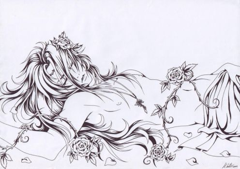 Noel: Sleeping Beauty Outlines by Crescentia-Fortuna