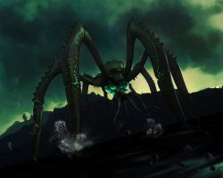 Water Colossus by PikkewynMan