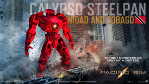 Pacific Rim Jaeger Poster (Calypso Steelpan II) by Neville6000