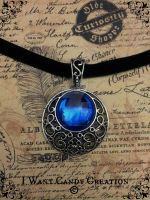 HANDMADE - Necklace Blue Stone by IWantCandyCreation