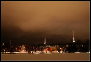 Lahti by Night by HannaV