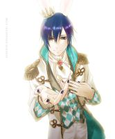 KAITO the white rabbit prince by almondrooster
