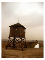 Guard tower in Majdanek by Just-Cara