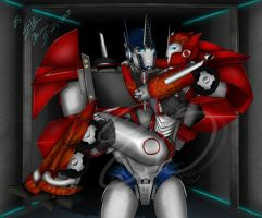 Optimus and Causeway -  A Cherished Moment by Lady-Elita-One