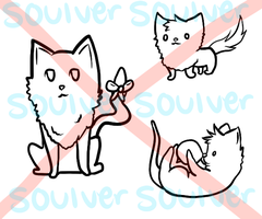 3 cat lineart package by Soulver