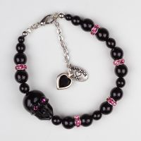 Beaded Skull Bracelet by francescadani
