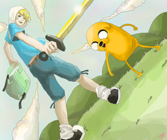 Adventure is out there Finn and Jake by mrzbean