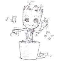 Dancing Groot by Banzchan