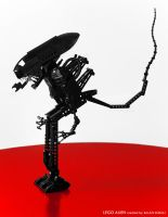 ALIEN LEGO Sculpture by SarmaiBalazs