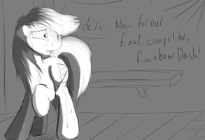 Failed Concept - Dash's Anxiety by InkyBeaker