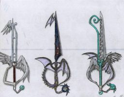 Keyblades by SquallAKALeon