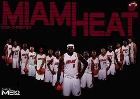 MIAMI HEAT 2012-13 Roster by carmelosidd