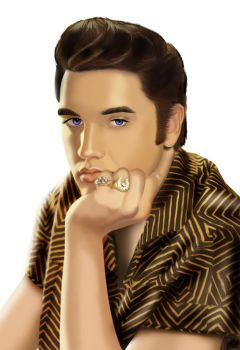 Elvis Presley Illustration by deanjacobs