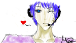 Quick sketch of Kaito! by XxVocaloidsrule